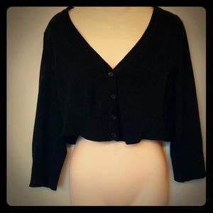 Modcloth Dream of the Crop Cardigan Black